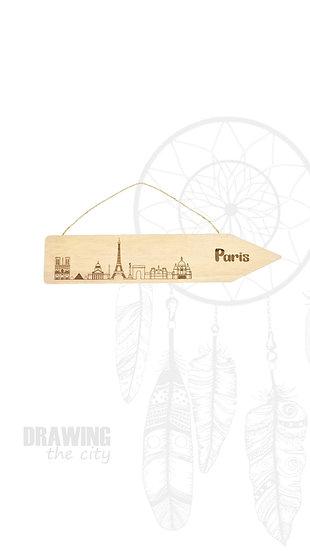 Pancarte bois Paris