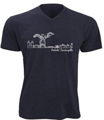 T-shirt homme Balade Tourangelle - Bleu marine