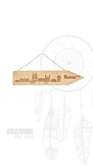 Pancarte bois Reims