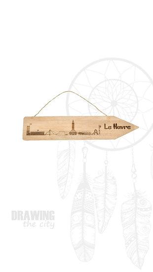 Pancarte bois Le Havre
