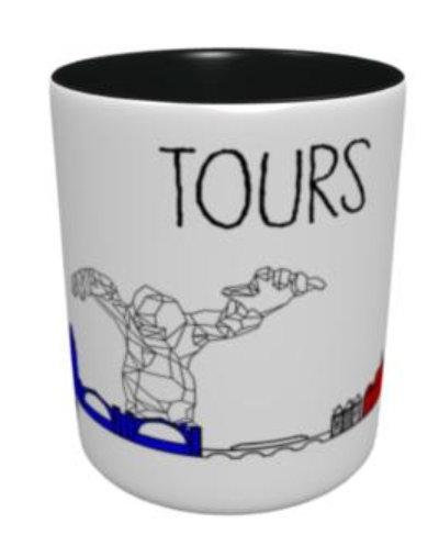 Mug - Fresque Tours - Bleu Blanc Rouge