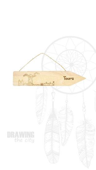 Pancarte bois Tours