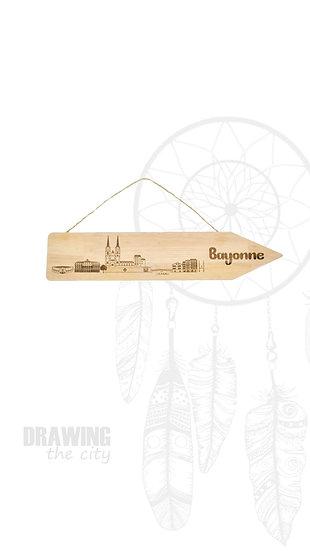Pancarte bois Bayonne