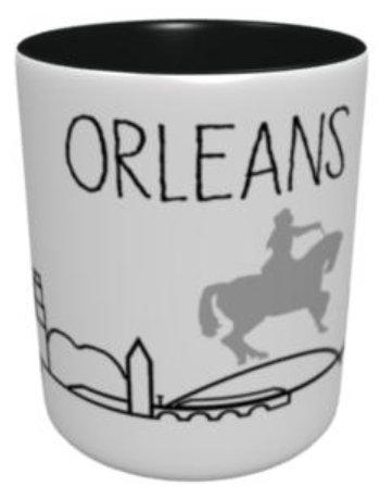 Mug - Fresque Orléans - Noir et Gris
