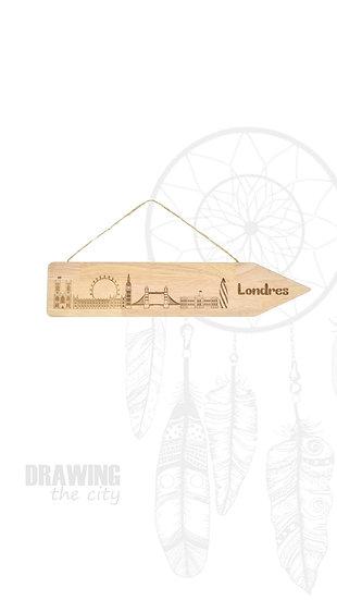 Pancarte bois Londres
