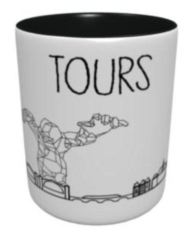 Mug - Fresque Tours - Noir et Gris