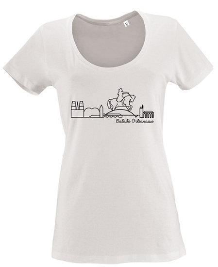 T-shirt femme Balade Orléanaise - Blanc