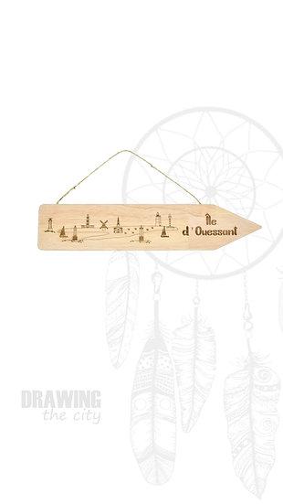 Pancarte bois - Ile d'Ouessant