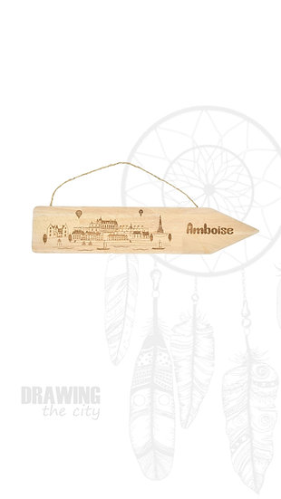 Pancarte bois Amboise