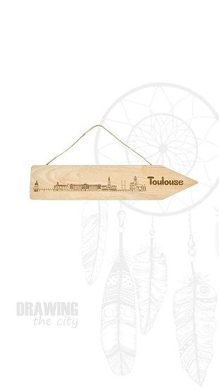 Pancarte bois Toulouse