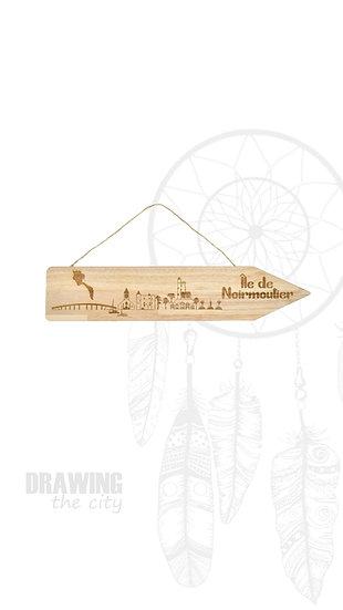 Pancarte bois Île de Noirmoutier