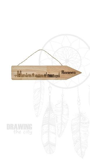 Pancarte bois Rennes