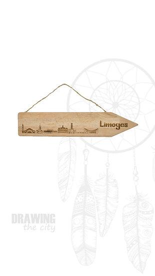 Pancarte bois Limoges