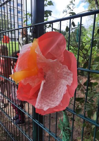 Blumen basteln mit Kita Sternschnuppe