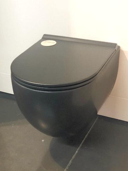 Bado Gio wand wc mat zwart