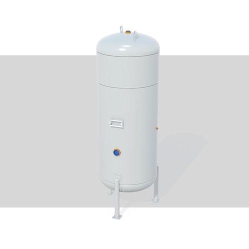 Projeto de Vaso de Pressão Vertical S/ Radiografia-1000L 10kgf/cm²-Oxigênio Ind.