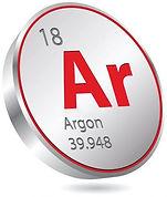 Símbolo químico do argonio | Metal Cruzado