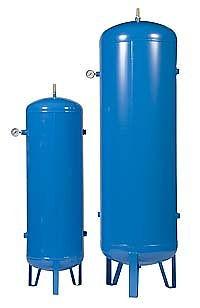 Vaso de pressão vertical para armazenameto de ar comprimido cor azul   Metal Cruzado