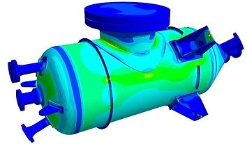 Análise em vaso de pressão horizontal através do método de elementos finitos   Metal Cruzado