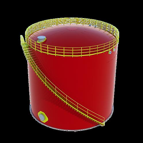 Tanque API 650 para armazenamento de água