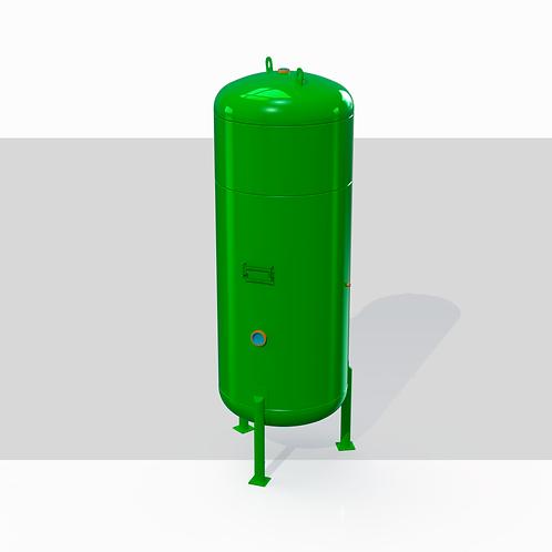 Projeto de Vaso de Pressão Vertical S/ Radiografia-2000L 10kgf/cm²-Água