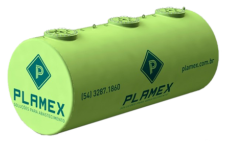 Tanque subterrâneo jaquetado da empresa PLAMEX   Metal Cruzado