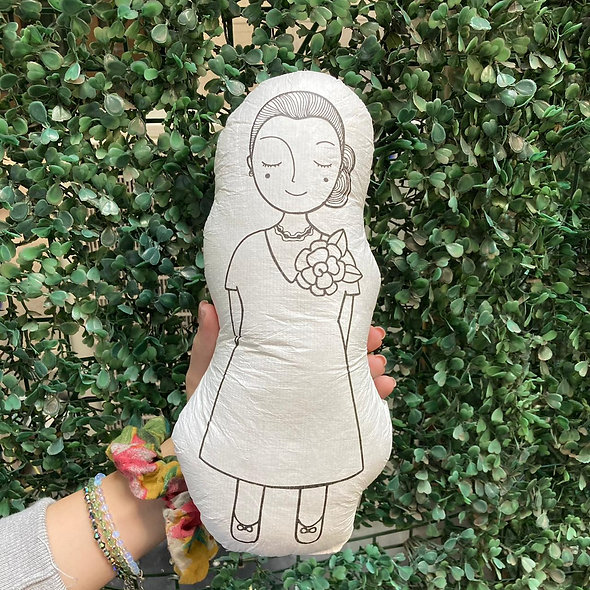 Muñeca almohadón para pintar