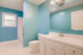 newly painted guest bathroom
