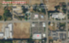 High Traffic Commercial area - Aerial Photo