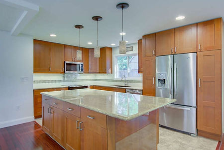 Beautifully updated kitchen with granite counters