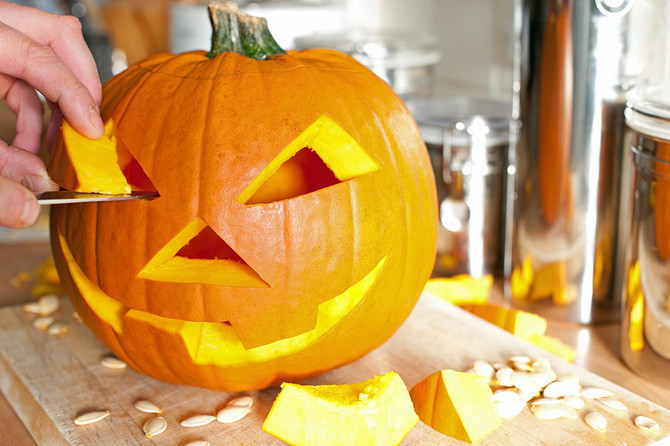 Carve your pumpkin, not your hands!