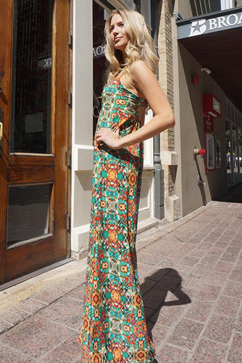 Green Kaleidoscope Lisbon Dress