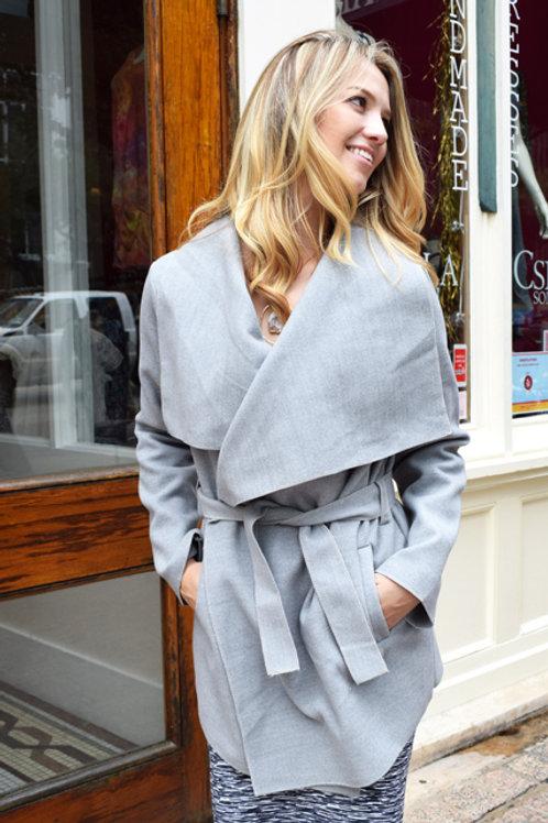 Wide Lapel Jacket Heather Grey