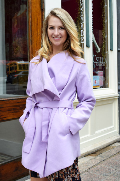 Wide Lapel Jacket in Lilac