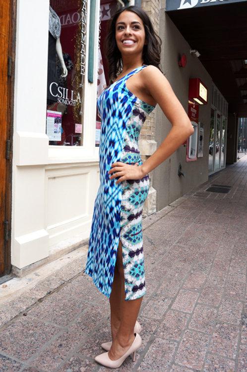 Blue Diamond Skinny Tank Dress
