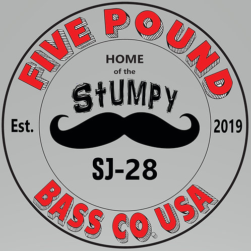 Five Pound Bass Co Sticker