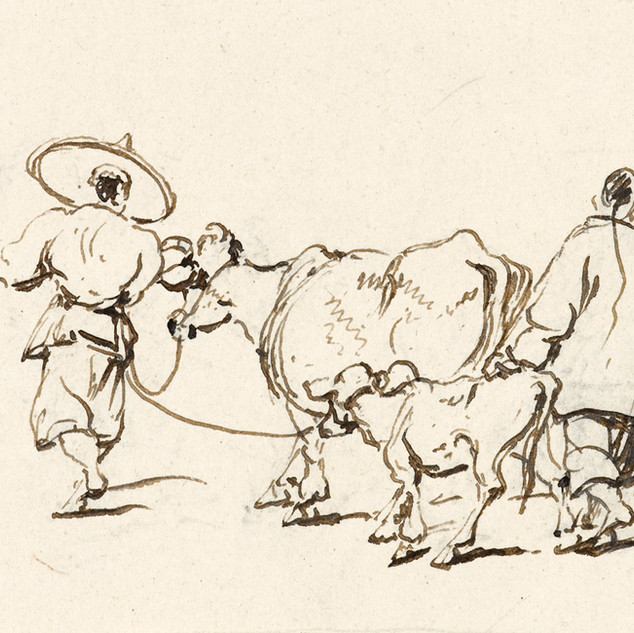 Chinnery Two figures with cow and calf 90-32 VH37.jpg