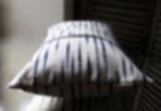 """coussin byzoon 45/60cm motif """"perlé"""""""