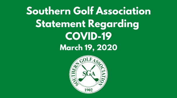 Southern Golf Association Statement Regarding COVID-19