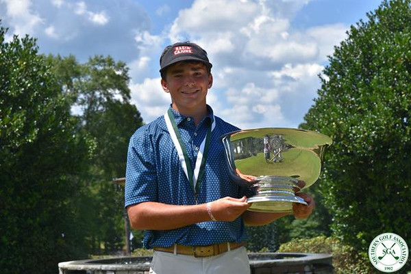 Charlie Flynn with the Win at Southern Junior Championship