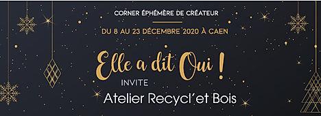 Noel 2020 corner createur Recycl'et Bois chez Elle a dit oui