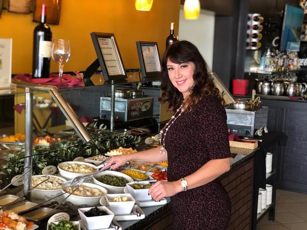 Gourmet salad bar