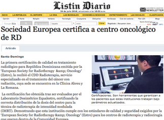 CDD Radioterapia obtiene su 3ra Certificación Internacional