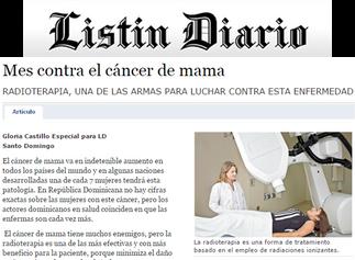 Listín Diario: MES CONTRA EL CÁNCER DE MAMA