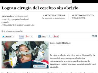 Diario El Nacional: LOGRAN CIRUGÍA DEL CEREBRO SIN ABRIRLO