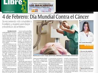 Diario Libre: 4 DE FEBRERO, DÍA MUNDIAL CONTRA EL CÁNCER