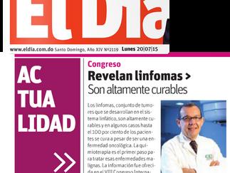 """EL DIA: """"Revelan linfomas son altemente curables"""""""