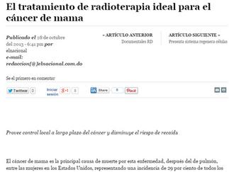 Diario El Nacional: EL TRATAMIENTO DE RADIOTERAPIA IDEAL PARA EL CÁNCER DE MAMA