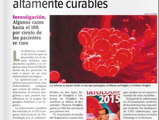 """Diario HOY: """"Revelan linfomas son altamente curables"""""""
