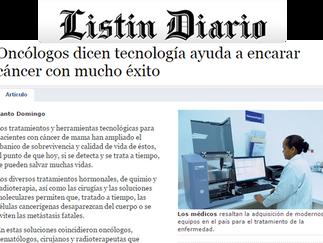 Listín Diario: ONCÓLOGOS DICEN TECNOLOGÍA AYUDA A ENCARAR CÁNCER CON MUCHO ÉXITO